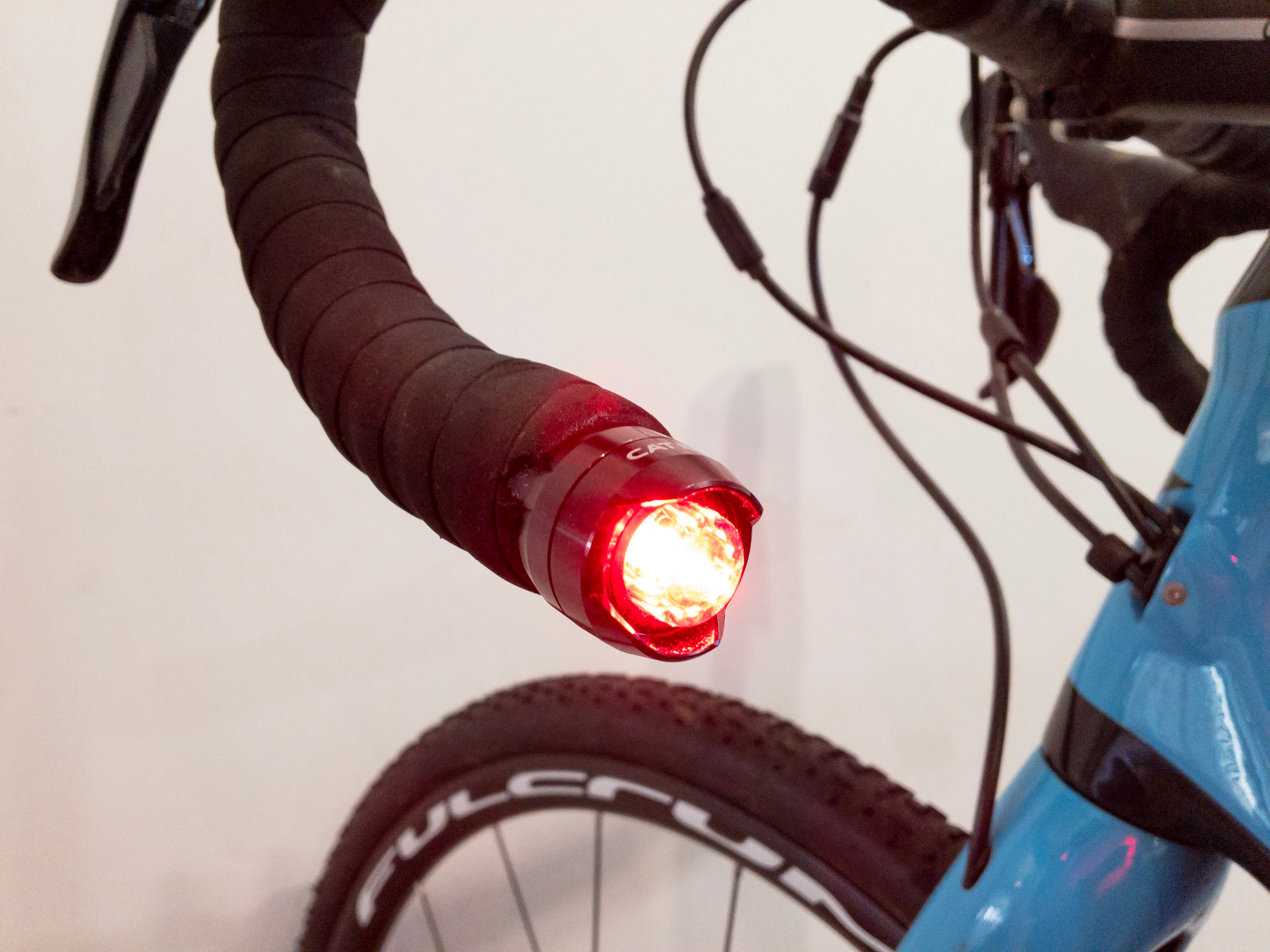 Cateye Orb bar end lights review   Cyclist