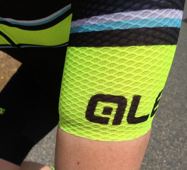 0288c3ee6 The sleeves and front of the jersey use the same perforated fabric as the  legs of the bibshorts