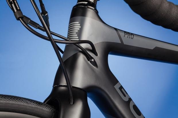 dafd31c380b Flatter-section chainstays are contrasted by curved and flared seatstays,  which are formed in this way to soak up vibrations from the road.