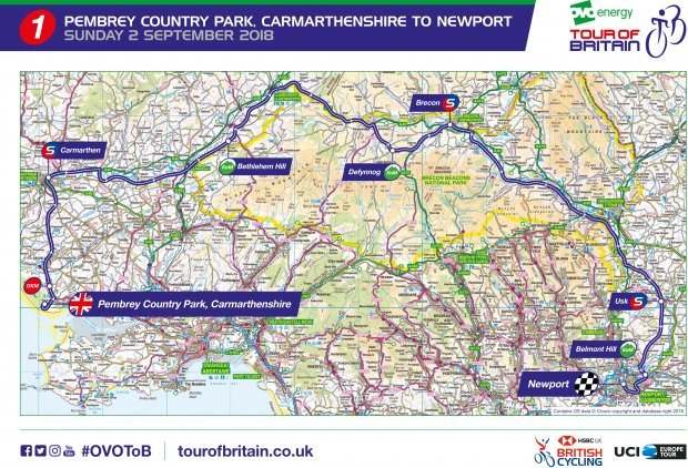 Map 9f England.Tour Of Britain 2018 Route Map Stages Tv Guide Start List Cyclist