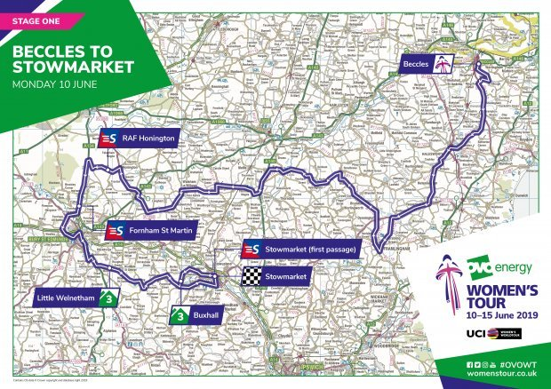 Map Of Uk Key Stage 1.Women S Tour 2019 Route Map Stages Riders Tv Guide Cyclist