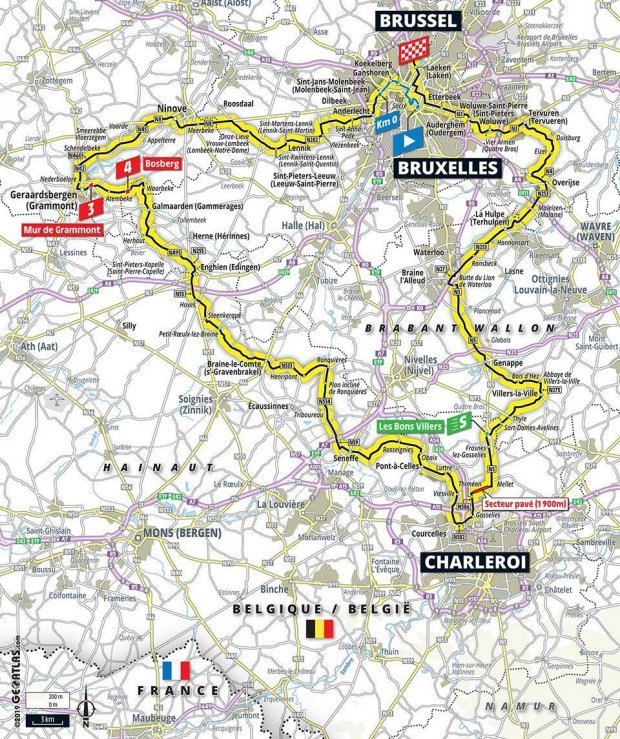 Map Of Uk France.Tour De France 2019 Route Map Stages Live Tv Coverage And All You