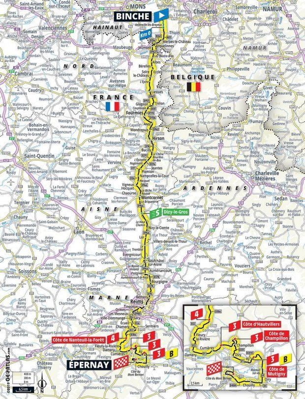 Map Of France With Key.Tour De France 2019 Route Map Stages Live Tv Coverage And All You